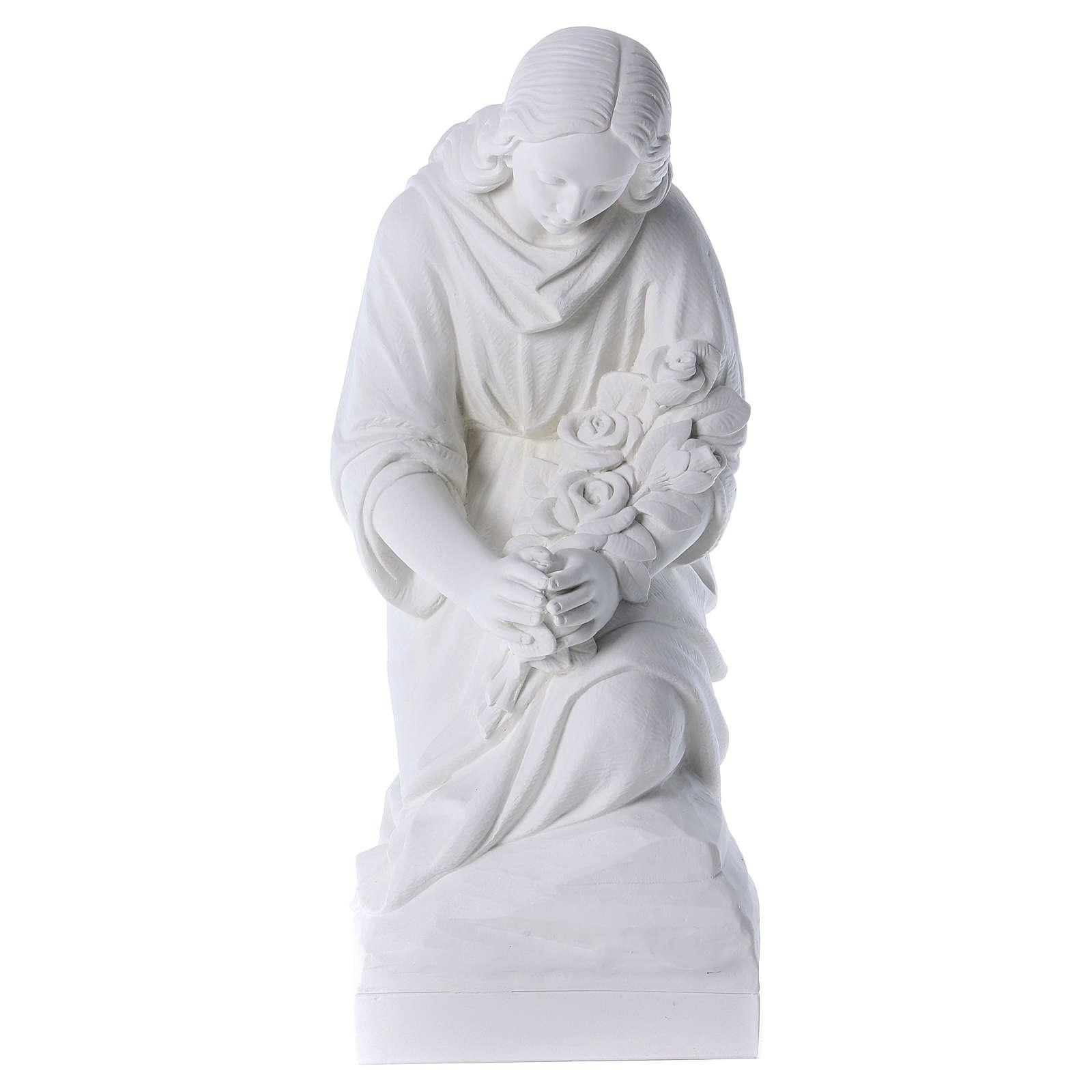 Angelo in ginocchio 60 cm polvere di marmo 4