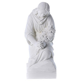 Angelo in ginocchio 60 cm polvere di marmo