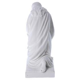 Angelo in ginocchio 60 cm polvere di marmo s5
