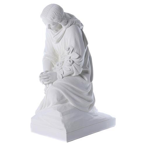 Angelo in ginocchio 60 cm polvere di marmo 3
