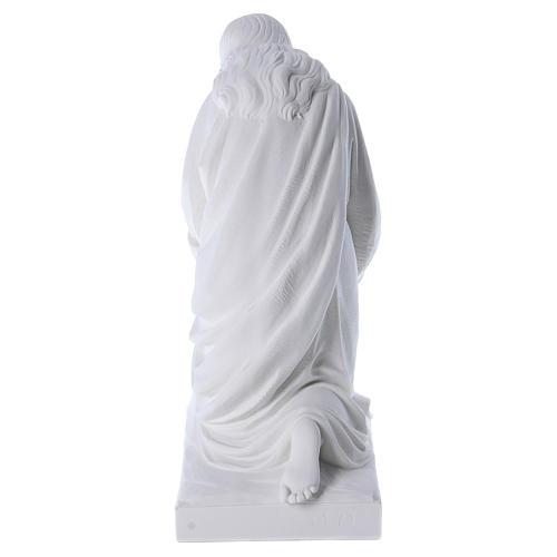 Angelo in ginocchio 60 cm polvere di marmo 5