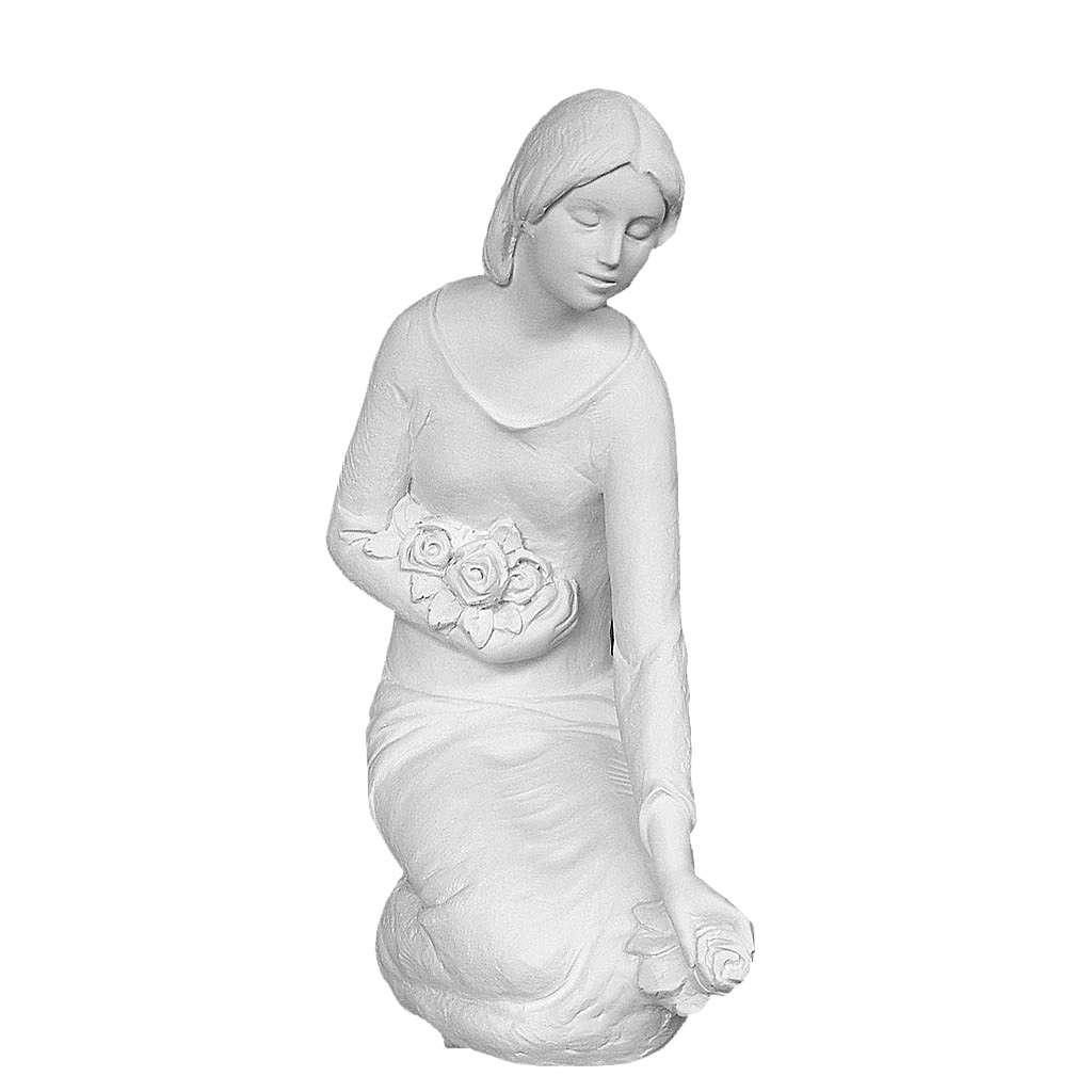 Lanza flores en rodillas 55cm mármol 4