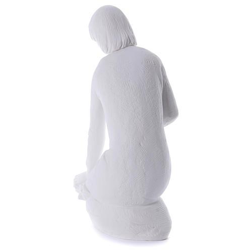Angelo gettafiori in ginocchio 55 cm marmo 5