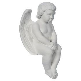 Angioletto cherubino 40 cm marmo s2