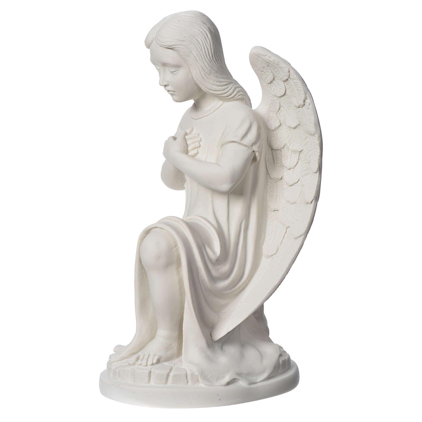 Angioletto sinistro marmo bianco di Carrara 30 cm 4