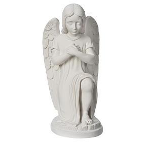 Angioletto sinistro marmo bianco di Carrara 30 cm s5