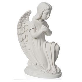 Angioletto sinistro marmo bianco di Carrara 30 cm s6