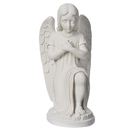 Angioletto sinistro marmo bianco di Carrara 30 cm 1