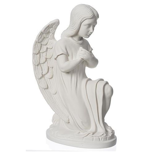 Angioletto sinistro marmo bianco di Carrara 30 cm 2