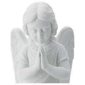 Praying angel, right, in reconstituted white Carrara marble 13,3 s2
