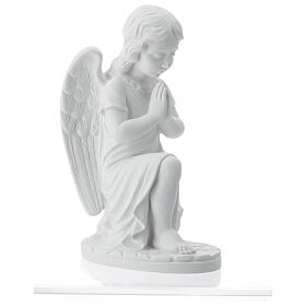 Praying angel, right, in reconstituted white Carrara marble 13,3 s6