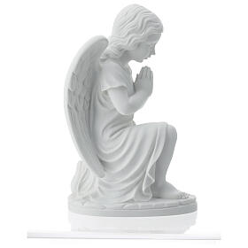 Praying angel, right, in reconstituted white Carrara marble 13,3 s7