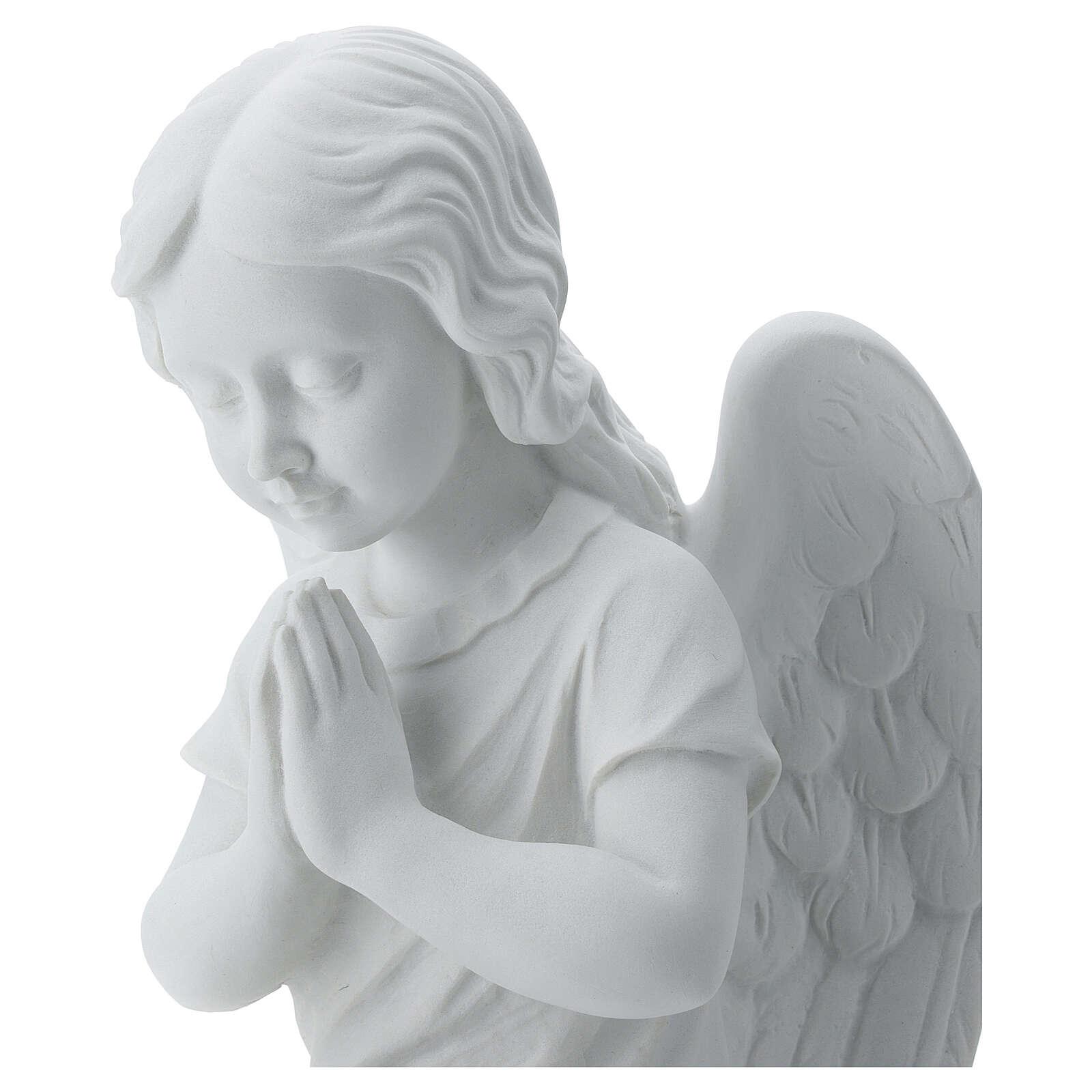 Angioletto sinistro marmo bianco di Carrara 34 cm 4