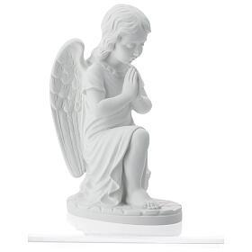 Angioletto sinistro marmo bianco di Carrara 34 cm s6