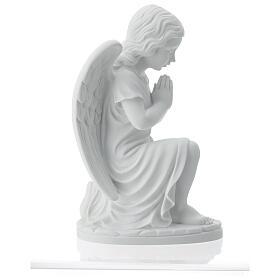 Angioletto sinistro marmo bianco di Carrara 34 cm s7