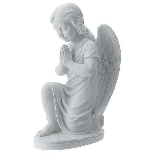 Angioletto sinistro marmo bianco di Carrara 34 cm 1