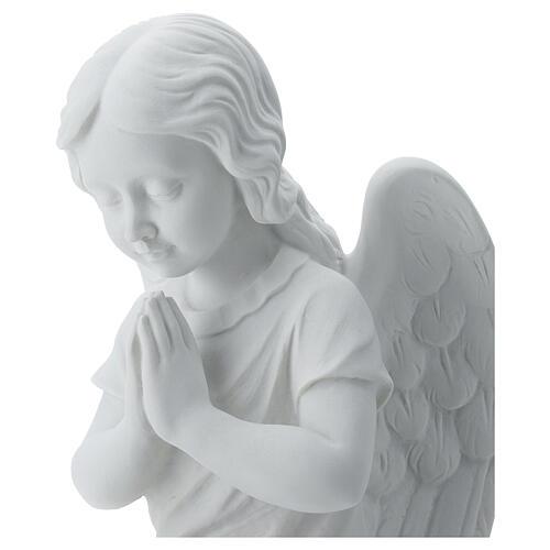 Angioletto sinistro marmo bianco di Carrara 34 cm 5