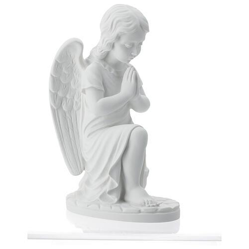 Angioletto sinistro marmo bianco di Carrara 34 cm 6