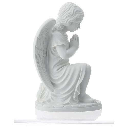 Angioletto sinistro marmo bianco di Carrara 34 cm 7