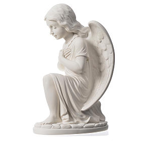 Praying angel, right, in reconstituted white Carrara marble 13,3 s4