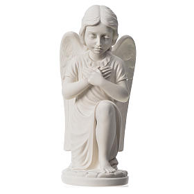 Praying angel, right, in composite white Carrara marble 13,3 s1