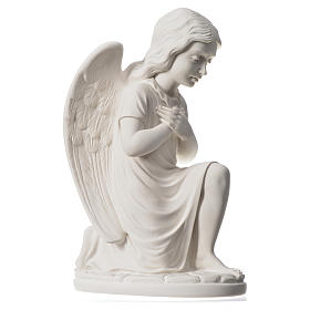 Praying angel, right, in composite white Carrara marble 13,3 s2