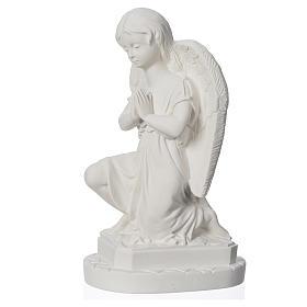 Anjo mãos juntas 28 cm mármore branco s6