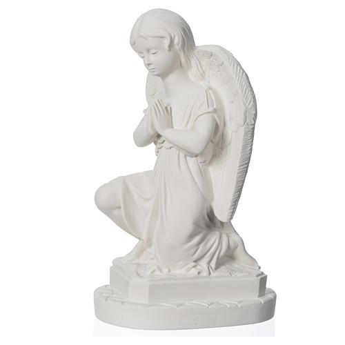 Anjo mãos juntas 28 cm mármore branco 6