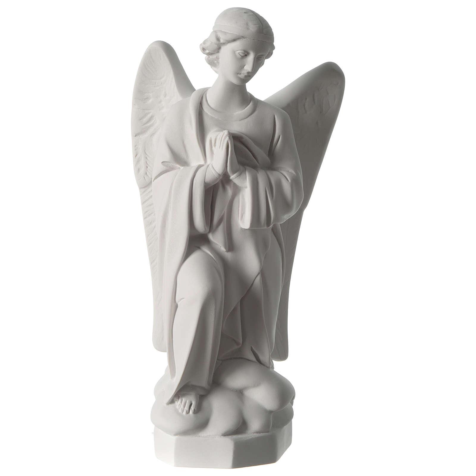 Ángel rezando 45cm mármol Carrara 4