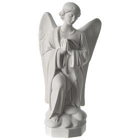 Imagens em Pó de Mármore de Carrara: Anjo esquerda mãos no coração 45 cm