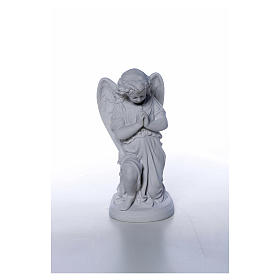Angel with hands joined in Carrara marble dust 10,24in s4