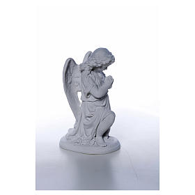 Angel with hands joined in Carrara marble dust 10,24in s5