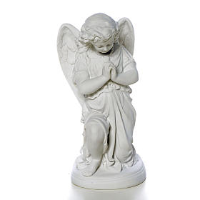 Angel with hands joined in Carrara marble dust 10,24in s1