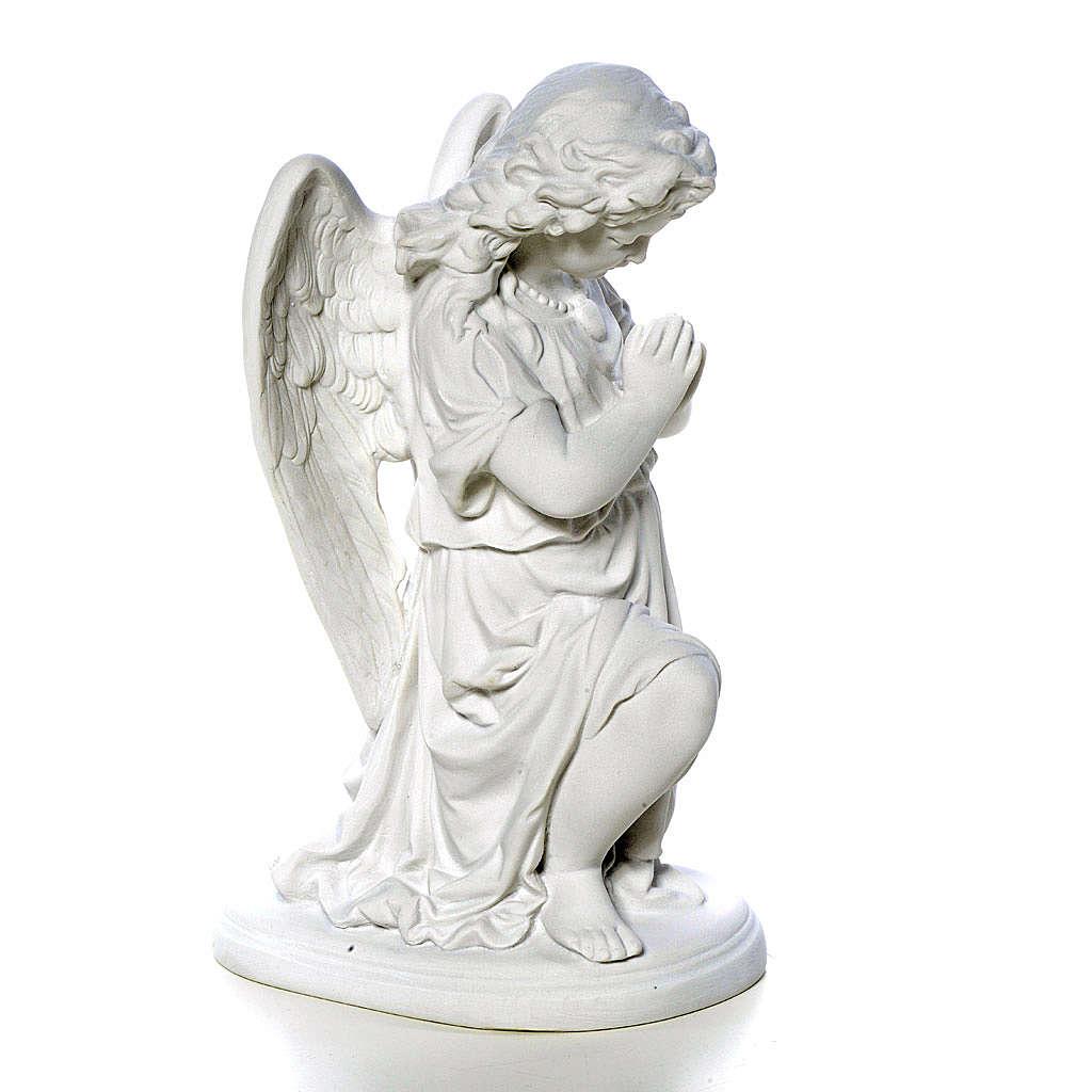 Angelot mains jointes 26 cm poudre de marbre 4