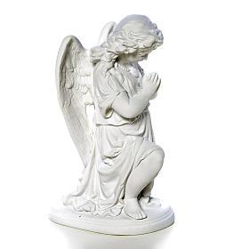 Angelot mains jointes 26 cm poudre de marbre s2