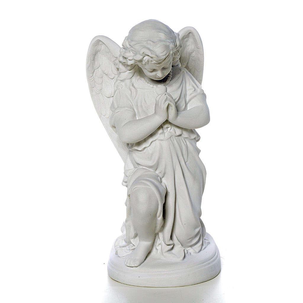 Angioletto mani giunte cm 26 polvere di marmo 4