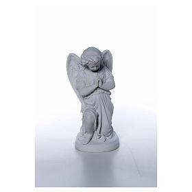 Angioletto mani giunte cm 26 polvere di marmo s4