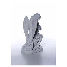 Angioletto mani giunte cm 26 polvere di marmo s6