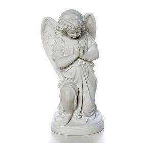 Imagens em Pó de Mármore de Carrara: Anjinho mãos juntas 26 cm pó de mármore