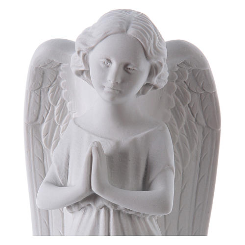 Angel, left, in Carrara marble dust 9,84in 2