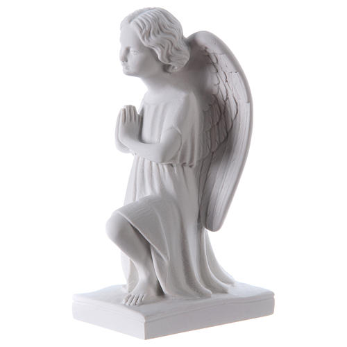 Angel, left, in Carrara marble dust 9,84in 3