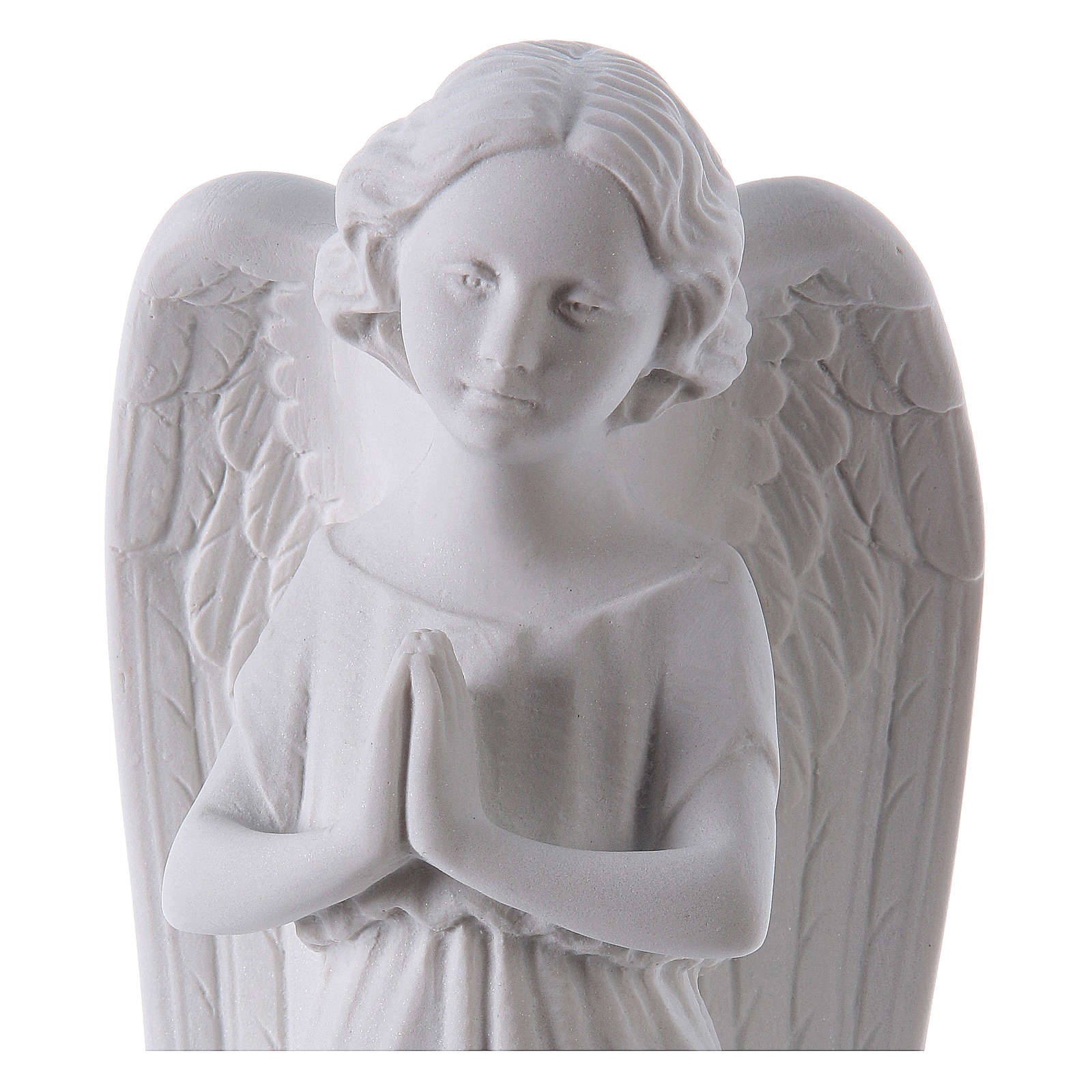 Angel, left, in Carrara marble dust 9,84in 4