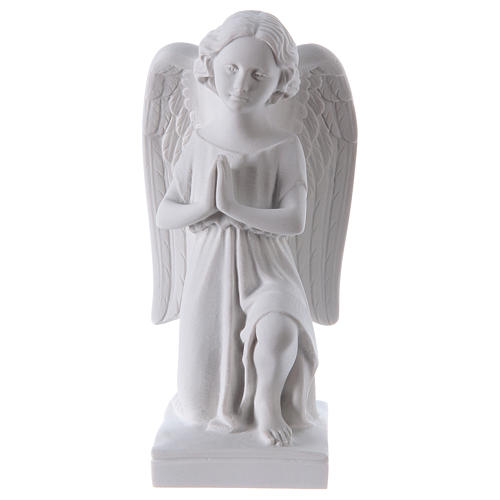 Angel, left, in Carrara marble dust 9,84in 1