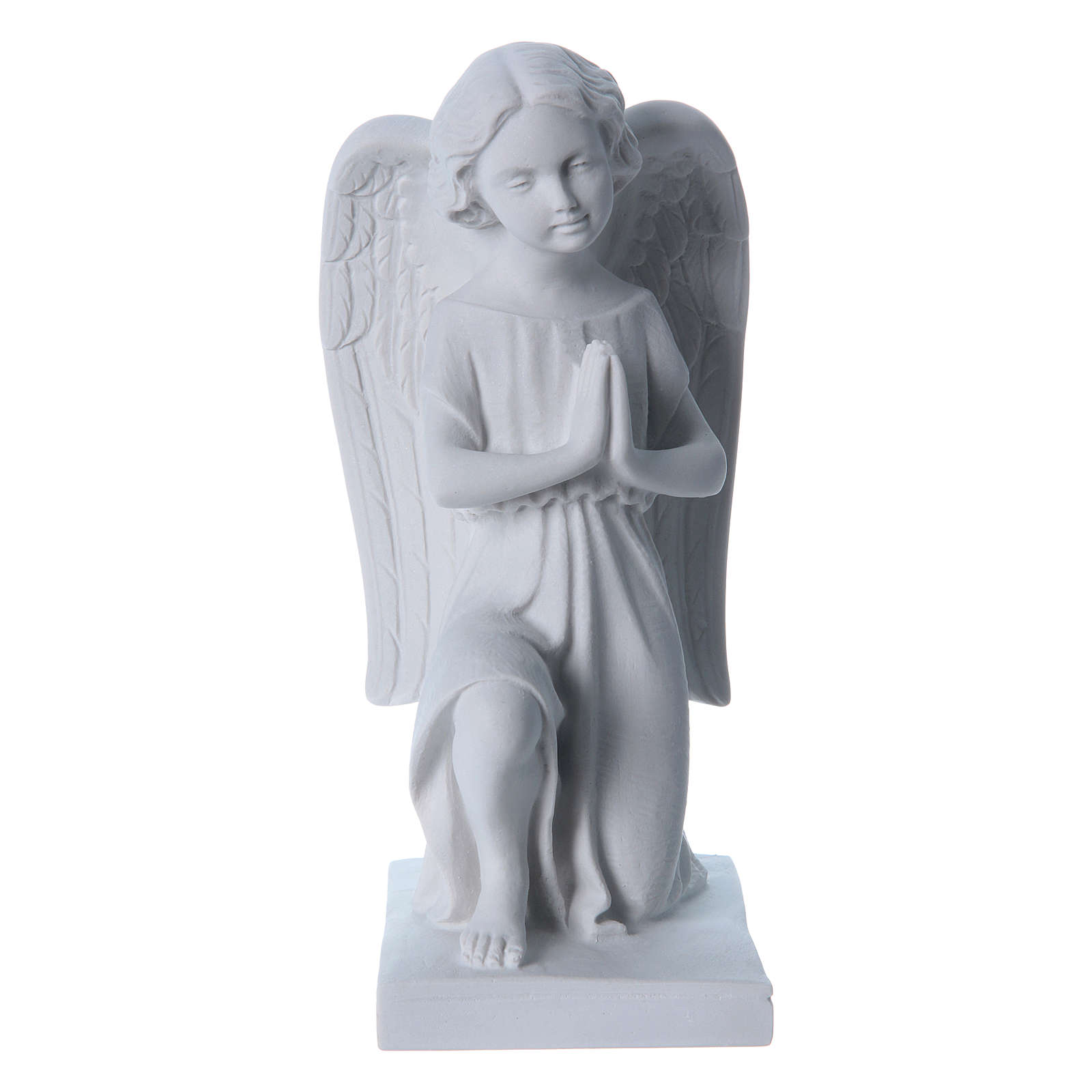 Angel, right, in reconstituted marble 25 cm 4