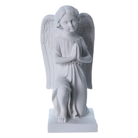 Angel, right, in reconstituted marble 25 cm s1