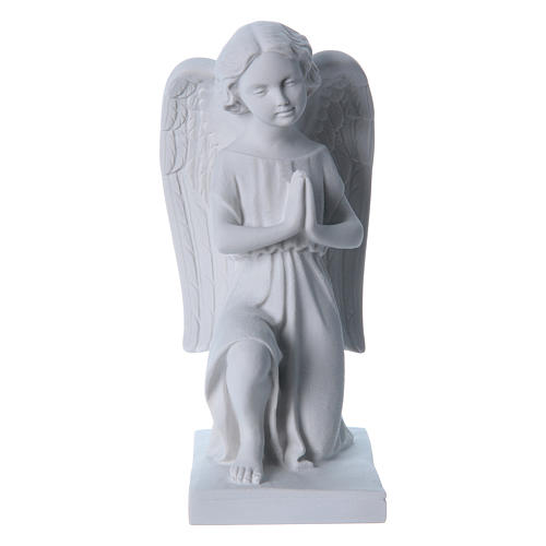 Angel, right, in reconstituted marble 25 cm 1