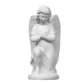 Imagens em Pó de Mármore de Carrara: Anjo esquerdo 18 cm mármore de Carrara