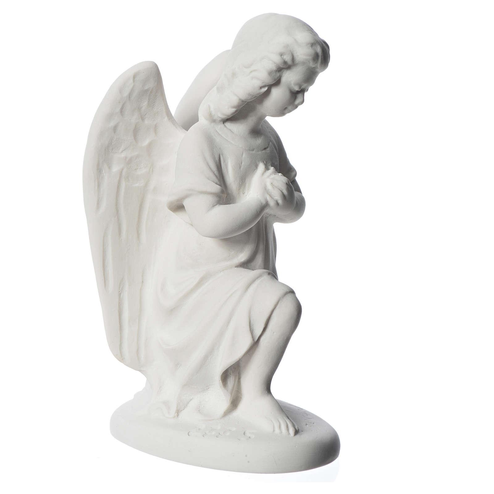 Angioletto destro 18 cm marmo di Carrara 4