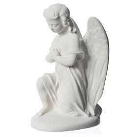Angioletto destro 18 cm marmo di Carrara s3