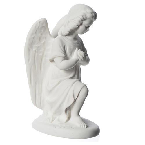 Angioletto destro 18 cm marmo di Carrara 6